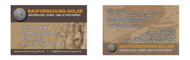 Visitenkarten für Bauforschung Golde