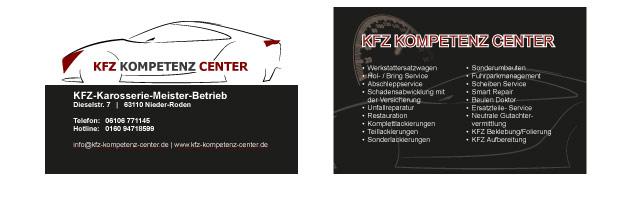 Visitenkarten inkl. Logo für KFZ Kompetenz Center