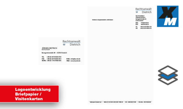Anwalt | Logoentwicklung / Briefpapier /  Visitenkarten