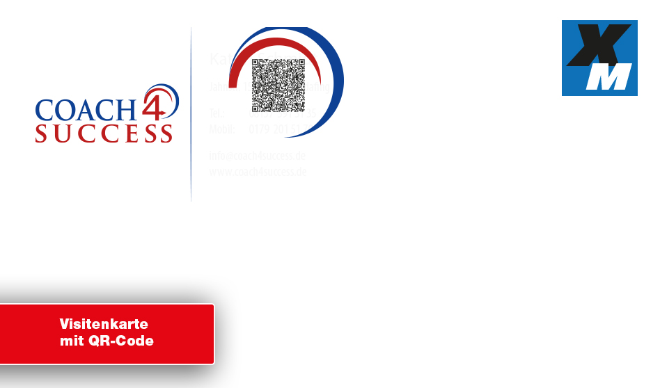 Visitenkarte Mit Qr Code Druckerei Service Egelsbach